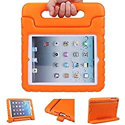 iPad Air Case,iPad 5 Case - Animov Light Weight Shockproof Kido Series Multi Function Convertible Kids Friendly Handle Cases Cover with stand For iPad 5th generation - Orange