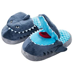 Silly Slippeez Shark Plush Slippers
