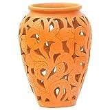 Terracraft Clay Flower Vase - (12'', Brown)
