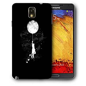 Snoogg Moon Balloon Designer Protective Back Case Cover For SAMSUNG Galaxy NOTE 3