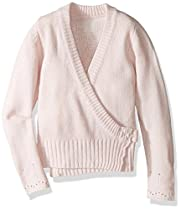 Capezio Little Girls' Classic Knit Wrap Sweater, Pink, X-Small