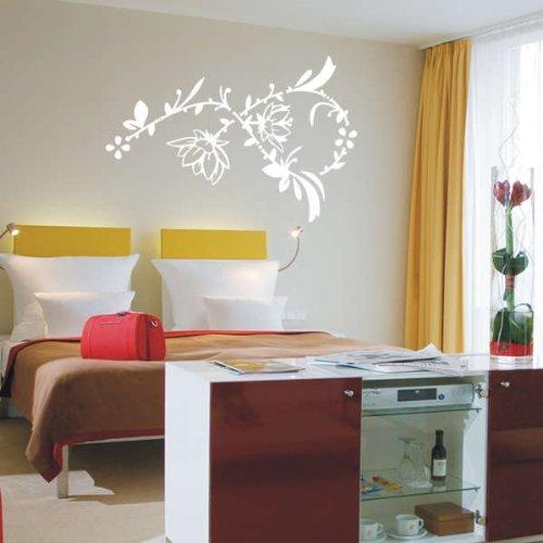Imagen 2 de Etiqueta de la pared f79 arbusto de la flor hermosa 120x80 cm