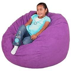 Cozy Sack Bean Bag Chair Purple - Medium 3