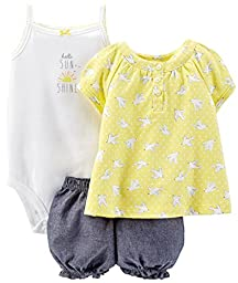 Carter\'s 3 Piece Print Romper Set (Baby) - Birds