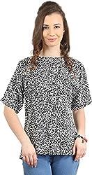 Amadeo Women's Half Sleeve Top (KRISHA06, White , Small)