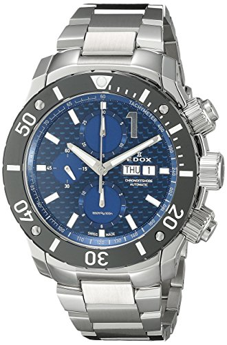 Edox-Mens-01114-3M-BUIN-Chronoffshore-Analog-Display-Swiss-Automatic-Silver-Watch