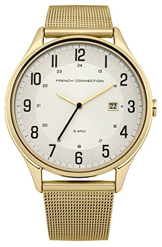 French Connection FC1167GM - Reloj de cuarzo , correa de acero inoxidable color dorado