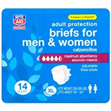 Rite Aid Adult Protection Briefs for Men & Women, Extra Large 14 ct.