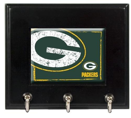 Nfl Green Bay Packers Wood Keyhook Rack
