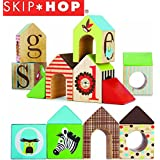 Skip Hop® Children Kids Alphabet Zoo Animal ABC House Solid Wooden Blocks - Non Toxic Paint and Finish