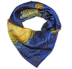 Olina Women's High-Grade Elegant 100% Luxury Square Silk Scarf Shawl (SS010)