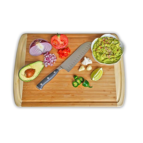 greener chef bamboo cutting board wood chopping board extra large organic will never dull. Black Bedroom Furniture Sets. Home Design Ideas