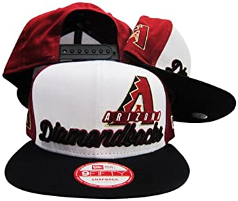 Arizona Diamondbacks Red-White-Black Script 9Fifty Adjustable Snapback Hat Cap by New Era