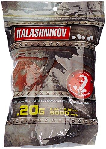 GSG Softair BB's 0.20 g Kalashnikov 5.000 ST. Beutel, Weiß, 6 mm, 123500