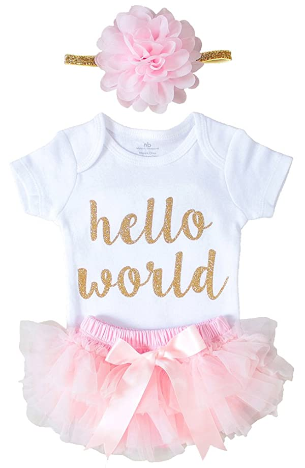 75a26a7d4 OoSweetCharlotteoO Newborn Baby Girl Coming Home Outfit Hello World ...