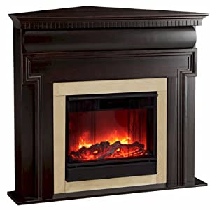 Mt Vernon Corner Electric Fireplace from Jensen Metal Products (Real Flame) - DROPSHIP