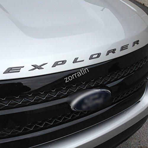 zorratin Matte Black Metal (not plastic) Explorer Letter Front Hood Emblem Badge for Ford 2011-2015 2016 (2011 Ford Emblem compare prices)