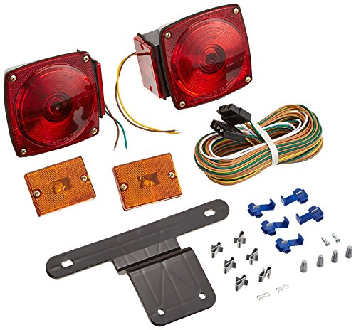 Amarine-made Boat Marine Pair Submersible Square Light Kit Trailer Under 80