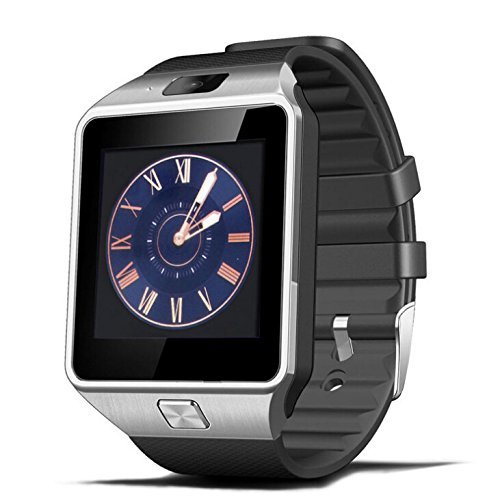 Ruichenxi SW01 Smartwatch DZ09 Bluetooth Montre Intelligente Bluetooth Montre Smart Watch avec caméra pour Smartphone Android Samsung S3 / S4 / S5 Note 2 / Note 3 Note 4 Huawei Xiaomi HTC LG Sony etcet fonctions partielles pour IOS Apple Iphone 6/6 Plus/5/5c/5s (Noir)