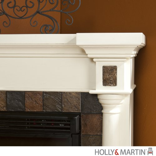 Carrington Faux Slate Convertible Electric Fireplace