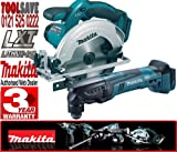 Makita BSS611Z 18V 165mm Cordless Circular Saw Plus BTM50Z LXT 18v Universal Multi-Tool (Body only)