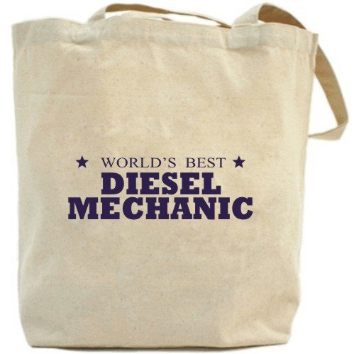 "Canvas Tote Bag Beige "" The Best Diesel Mechanic Of The World "" Occupations"