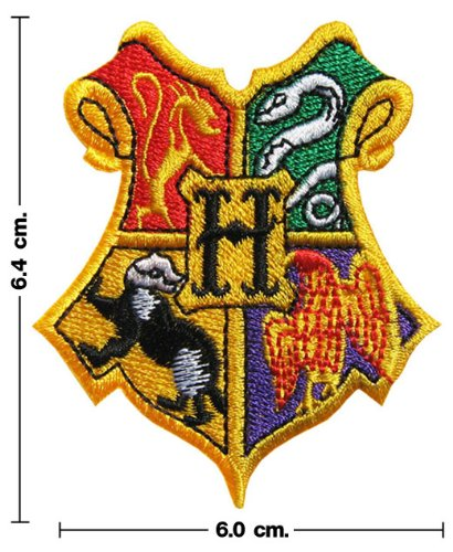 Harry Potter HOGWARTS SCHOOL Crest Iron On Patch (Harry Potter Iron On compare prices)