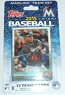 2015 Topps Miami Marlins Factory Sealed Special Edition 17 Card Team Set with Giancarlo Stanton Plus