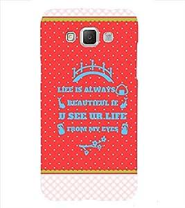 Life is Beautiful Back Case Cover for Samsung Galaxy J7::Samsung Galaxy J7 J700F