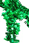 8.58242 Snazzy Green Wide Cut Artificial Tinsel Christmas Garland
