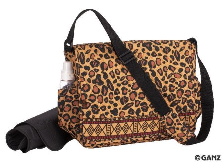 Maggi B Quilted Baby Diaper Bag (Wild Thing)