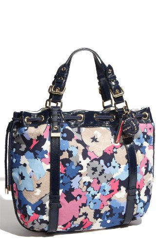 Juicy Couture 'Beverly' Floral Print Canvas Tote (Regal Multi)