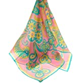 Vera Paisley Print Silk Scarf