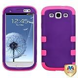 MYBAT SAMSIIIHPCTUFFSO014NP Premium TUFF Case for Samsung Galaxy S3 - 1 Pack - Retail Packaging - Grape/Electric Pink