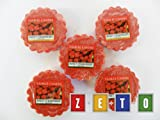 Yankee Candle - 5x Sweet Strawberry Wax Potpourri Tarts