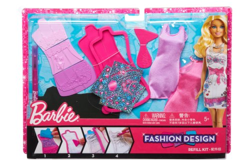 Barbie Fashion Design Plates Glam Extension Pack X7894 - 1