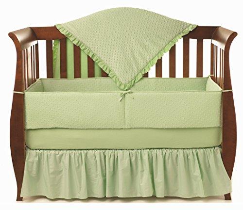 American Baby Company Heavenly Soft Minky Dot 4-Piece Crib Bedding Set, Celery