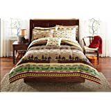 Fishing, Cabin, Lodge, Canoe Twin Comforter Set (6 Piece Bed In A Bag)