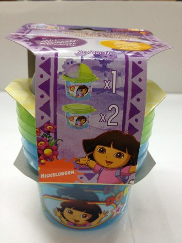 Dora The Explorer 3-Piece Set Snack N Store Food Storage Container - 1