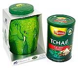 Exclusive Green Tea Gift Set: Williamson Pure Green Tea Tin(40 tea bags) & Lipton Original TCHAE Green Tea Orient Tin with 25 pyramid tea bags. Perfect Gift.
