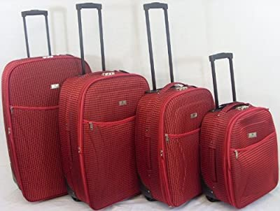 4Pc Luggage Travel Suitcase Set RED With Combination Locked Tr-541 from unistyle.