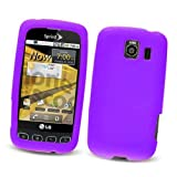 LG Optimus S LS670 (Sprint) Silicone Skin Case, Purple