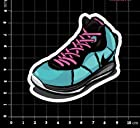 Lebron VIII/8 King James South Beach Green/Pink Sneakers Shoes Stickers Air LBJ