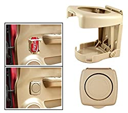 Vetra Foldable Drink Can Glass Holder Beige For Mahindra Thar