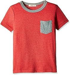 Fox Baby Boys' T-Shirt (Red Melange_18-24 M_327607)