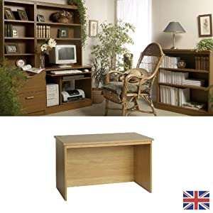 Furniture That Works Desk With 2 Cable Ports Finish Teak Kitc