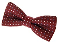 "Vintage Three-Colour Polka Dots Woven Pre-tied Bow Tie (4.5"") - Various Colors"