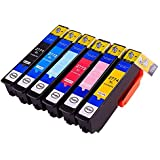 Theluckleds 6pk Compatible T277 code T2771-T2776 ink cartridge for Epson expression XP-850 XP-950