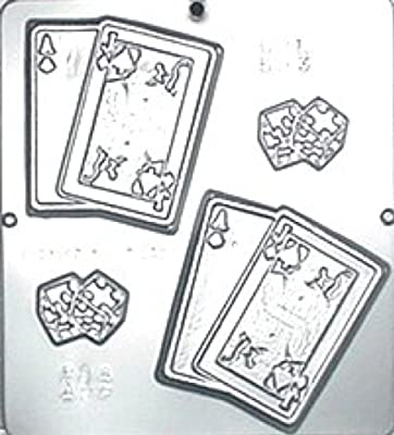Playing Cards and Dice Chocolate Candy Mold 593