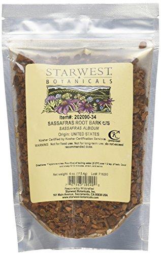 Starwest Botanicals Sassafras Root C/S 4 Ounces
